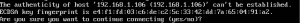 SSH connection warning